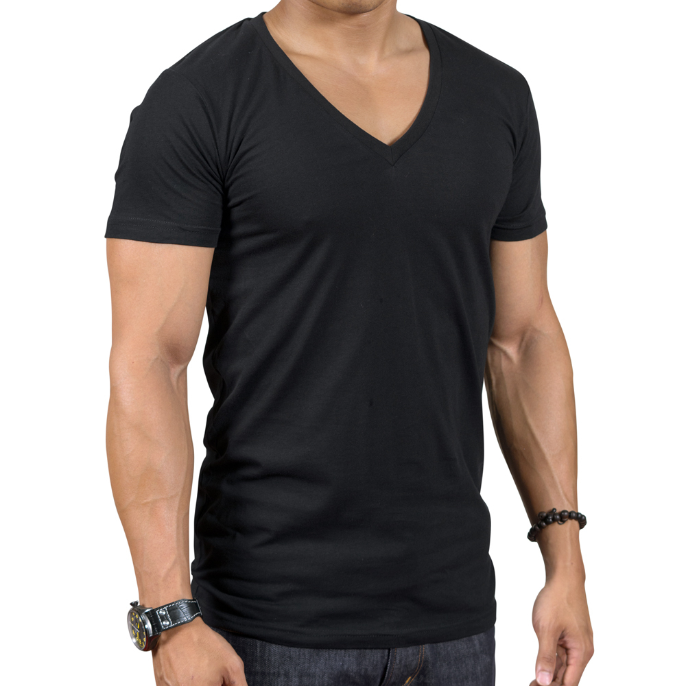 T shirts arloni fashions V neck black t shirt