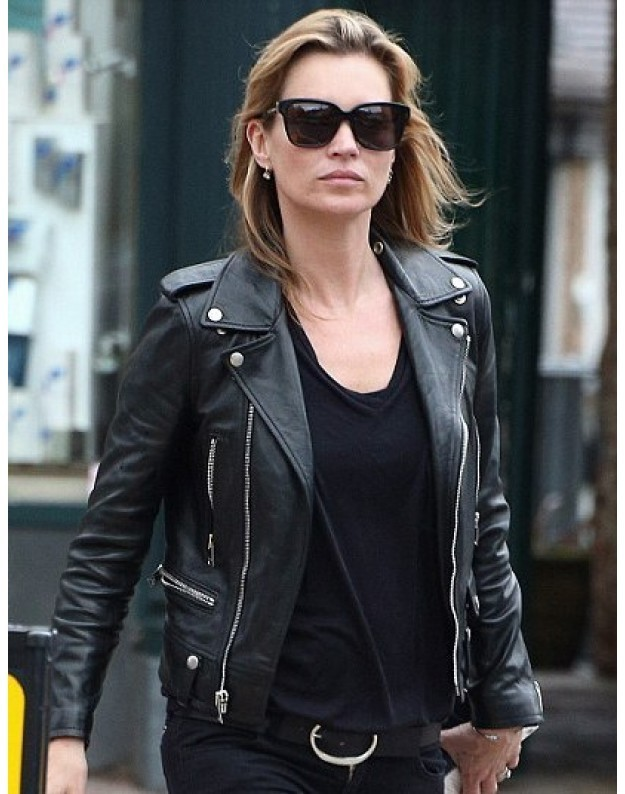 Leather Black Jacket Womens