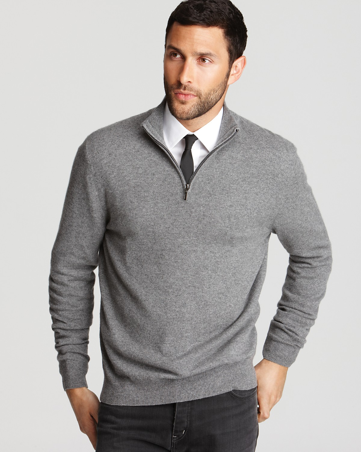 Sweaters on shirts for men for Mens sweater collared shirt